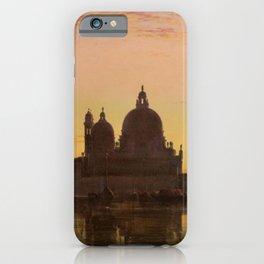 Venice Sunset at Santa Maria della Salute by Edwin William Cooke iPhone Case