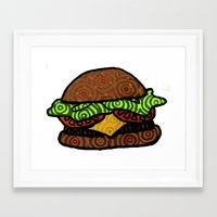 hamburger Framed Art Prints featuring Hamburger by nsvtwork