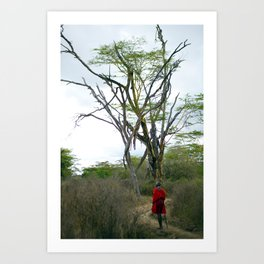 Masai Warrior Art Print