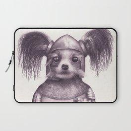 Papillon Knight - Medieval Dog Laptop Sleeve