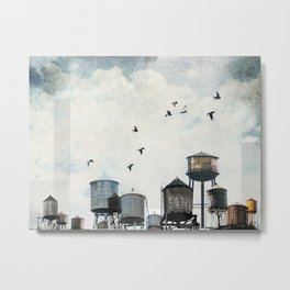 Watertanks 2 Metal Print