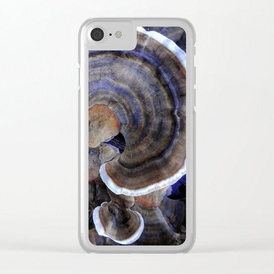 Winter Mushrooms Clear iPhone Case
