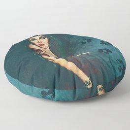 Flower In A Smoky Room Floor Pillow