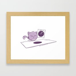 Fat Cat Twister Framed Art Print