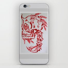 Bones and feathers iPhone Skin