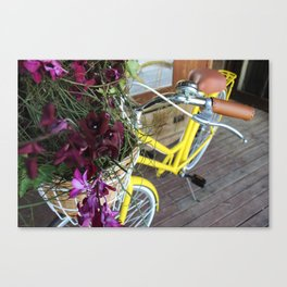 Vintage Bike Flowers Canvas Print