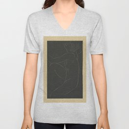 1937 Female nude, seated by Eric Gill. Original from The Museum of New Zealand Te Papa Tongarew, ero Unisex V-Neck