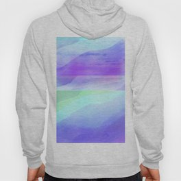 Seascape in Shades of Green Purple and Blue Hoody