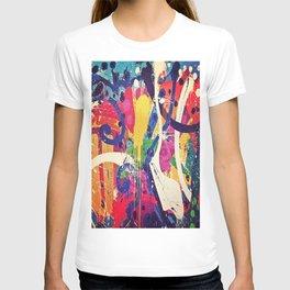 Street Art Paint Splatter Bold Colors  T-shirt