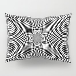 Hypnotic Black and White Pattern Pillow Sham