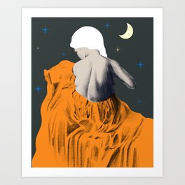 Night time stars  Art Print