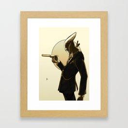 Robot Assassin, Sepia Framed Art Print