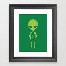 Green as a Little Green Does Framed Art Print