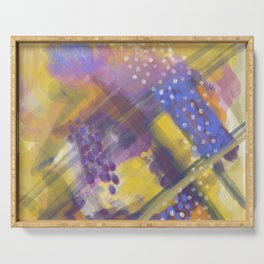 Abstract Arial design Serving Tray
