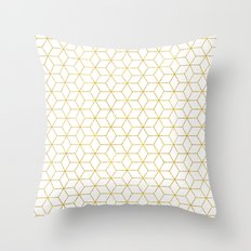 Gold + Geometric #society6 #decor #pattern Throw Pillow