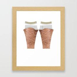 hairy leg...gings Framed Art Print