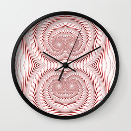 raspberry ice cream Wall Clock