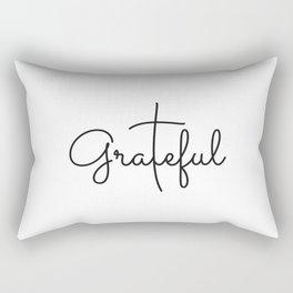 Love Grateful inspirational  Christian yoga positive Quote Rectangular Pillow