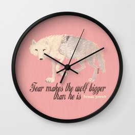 Totem : Fear and the wolf Wall Clock