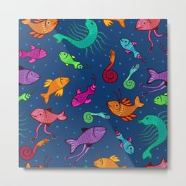 extraordinary sea creatures Metal Print