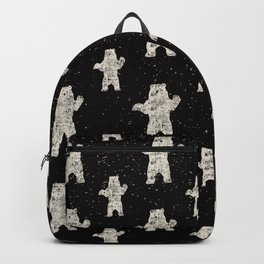 Polar Bear in Winter Snow on Black - Wild Animals - Mix & Match with Simplicity of Life Backpack