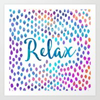 relax Art Prints featuring Relax by Elisabeth Fredriksson