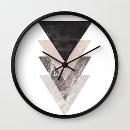Geometric Shapes. Marble Triangles. Wall Clock