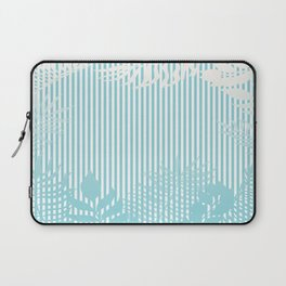 Beach Sparkle Tropical Palm Leaves Stripe Laptop Sleeve