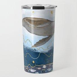 Flying Seal - Rising Waters Surreal Climate Change  Travel Mug