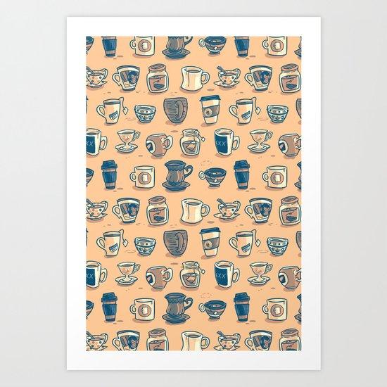 Coffee & Tea Art Print