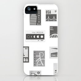 USA, Canada, London, The Moon iPhone Case