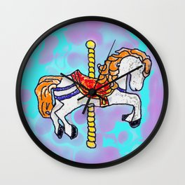 GO AROUND HORSE Wall Clock