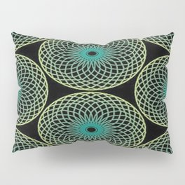 abstract blue flower pattern Pillow Sham