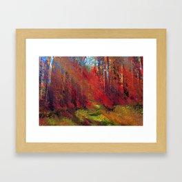 Autumn Days Journey  Framed Art Print