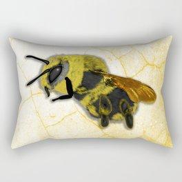 Bee on White Marble Rectangular Pillow