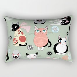 Cat Parade Rectangular Pillow