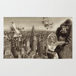 KING KONG 1933. Black & White Rug