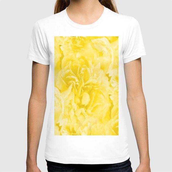 Yellow Peony Petals in Close-up #decor #society6 #buyart T-shirt