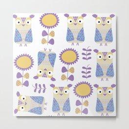 Owls pattern s3 Metal Print