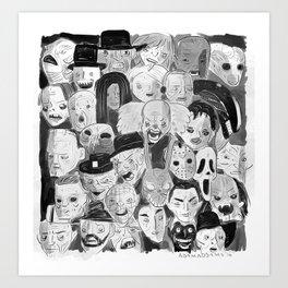 Movie Maniacs Art Print