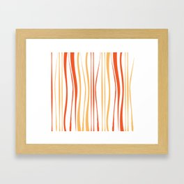 Orange Tree Lines Framed Art Print