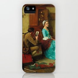 THE SILHOUETTE by NORMAN ROCKWELL iPhone Case