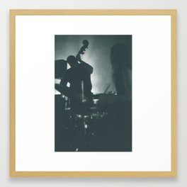 Jazz Bassist and Drummer Framed Art Print