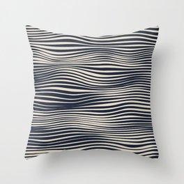 Waving Lines Throw Pillow