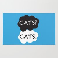 tfios Area & Throw Rugs featuring Cats by bitobots