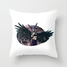 Riae Suicide Vector Illustration Throw Pillow