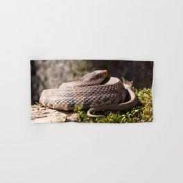 Watercolor Reptile Water Moccasin Snake 04, Swamp Defender Hand & Bath Towel