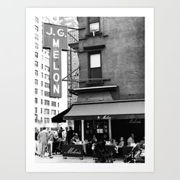 JG Melon, Upper East Side, New York City Art Print