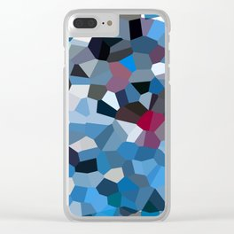 Sapphire Periwinkle Blue Moon Love Clear iPhone Case