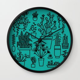 Botanical Sunroom Wall Clock